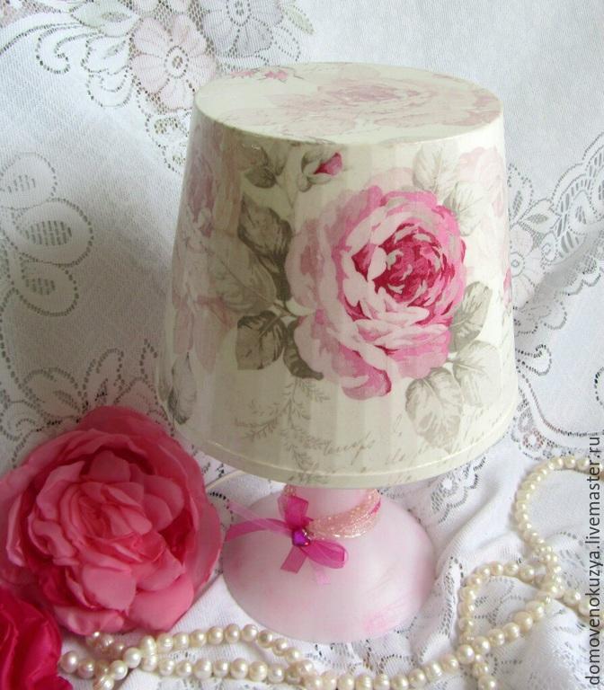 Лампа Настольная Роза