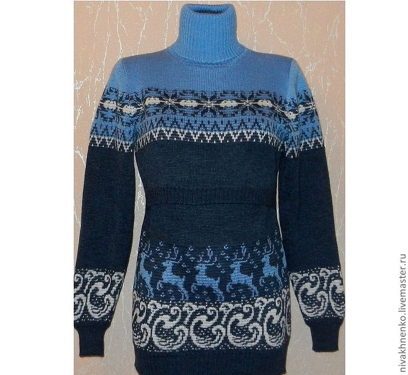 Sweater dress knitted for feeding jeans, Dresses, Moscow,  Фото №1