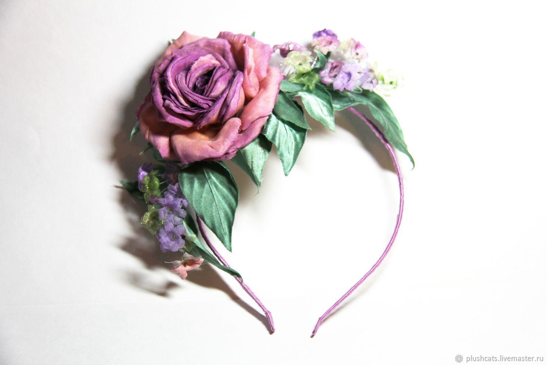 Rim Floral fantasy of silk, Headband, Moscow,  Фото №1