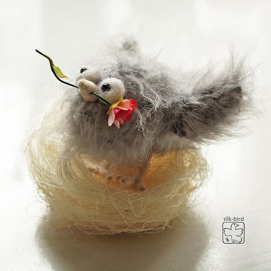 Подарки для влюбленных ручной работы. Ярмарка Мастеров - ручная работа. Купить Маленькое счастье. Handmade. Подарок девушке, птица