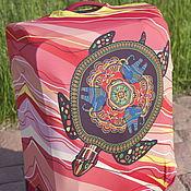 """Сумки и аксессуары handmade. Livemaster - original item Luggage cover """"Coral turtle`. Handmade."""