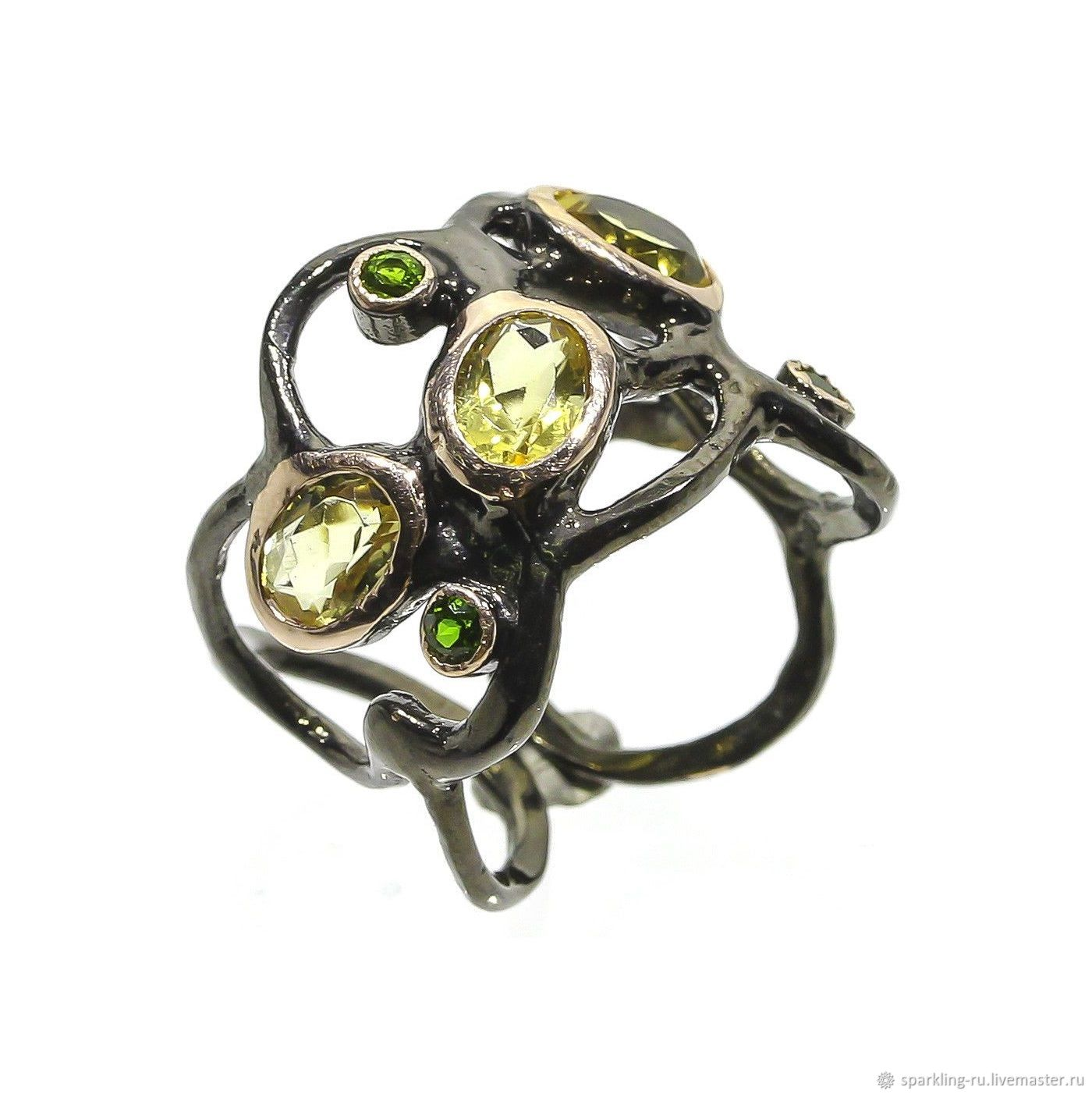 Silver ring with citrine, dimensionless, Rings, Moscow,  Фото №1
