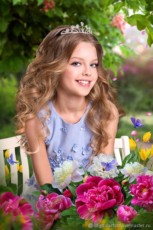 """Фотошаблон """"Весенний портрет"""", Фото, Москва,  Фото №1"""