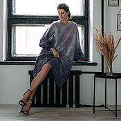 Одежда handmade. Livemaster - original item Felted dress dusty purple Amethyst. Handmade.