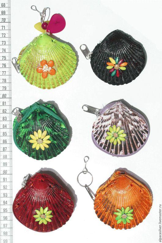 Кошельки и визитницы ручной работы. Ярмарка Мастеров - ручная работа. Купить Кошелёк из натуральной ракушки, окрашенный в различные цвета. Handmade.