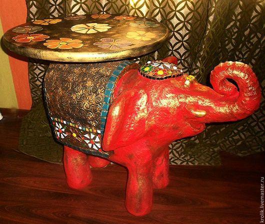 """Мебель ручной работы. Ярмарка Мастеров - ручная работа. Купить Стол """" Большой красный слон """".. Handmade."""