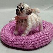 Куклы и игрушки handmade. Livemaster - original item Pug-miniature 4 cm crocheted. Handmade.