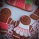 """Кулинарные сувениры ручной работы. Заказать """"Gingerbread family"""" набор новогодних пряников - козуль. Ларка  (Пряники-козули). Ярмарка Мастеров."""