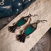 Украшения handmade. Livemaster - original item Earrings classic: Stargazer Fish Earrings (e-035). Handmade.
