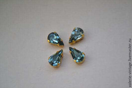 Для украшений ручной работы. Ярмарка Мастеров - ручная работа. Купить Винтажные кристаллы Swarovski 8х4,8 мм. цвет Indian Sapphire. Handmade.