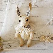 Куклы и игрушки ручной работы. Ярмарка Мастеров - ручная работа Белый Кролик тедди. Handmade.