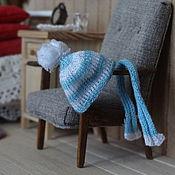 Куклы и игрушки ручной работы. Ярмарка Мастеров - ручная работа Шапочка и шарфик 1:12. Handmade.