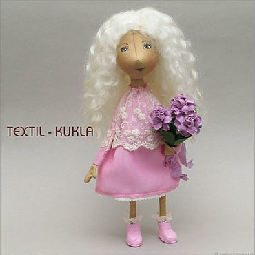 Куклы и игрушки ручной работы. Ярмарка Мастеров - ручная работа ОЛЕСЯ - портретная текстильная кукла. Handmade.
