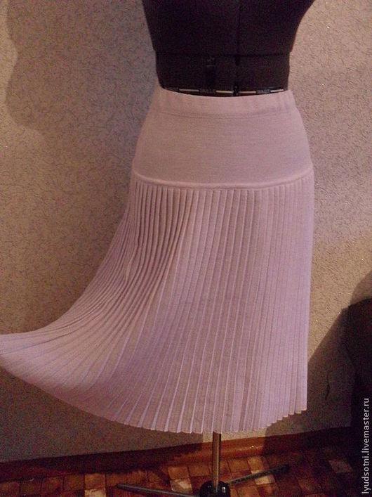 Юбки ручной работы. Ярмарка Мастеров - ручная работа. Купить Юбка  -5. Handmade. Белый, юбка вязаная, 30% шерсть