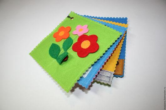 Развивающие игрушки ручной работы. Ярмарка Мастеров - ручная работа. Купить Развивающая книжка из фетра. Handmade. Развивающая книжка