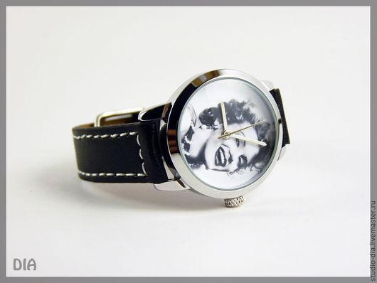 Часы. Наручные Часы. Оригинальные Дизайнерские Часы Мэрилин Монро ЧБ. Студия Дизайнерских Часов.