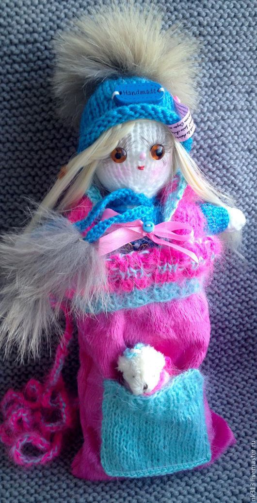 Человечки ручной работы. Ярмарка Мастеров - ручная работа. Купить Куколка в сумочке.. Handmade. Бирюзовый, кукла, сумка, подарок, бусины