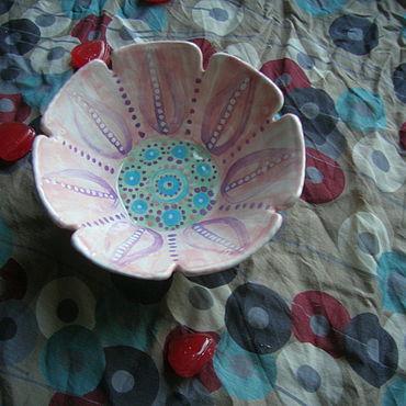 """Посуда ручной работы. Ярмарка Мастеров - ручная работа Пиалка """"Вышивка"""". Handmade."""