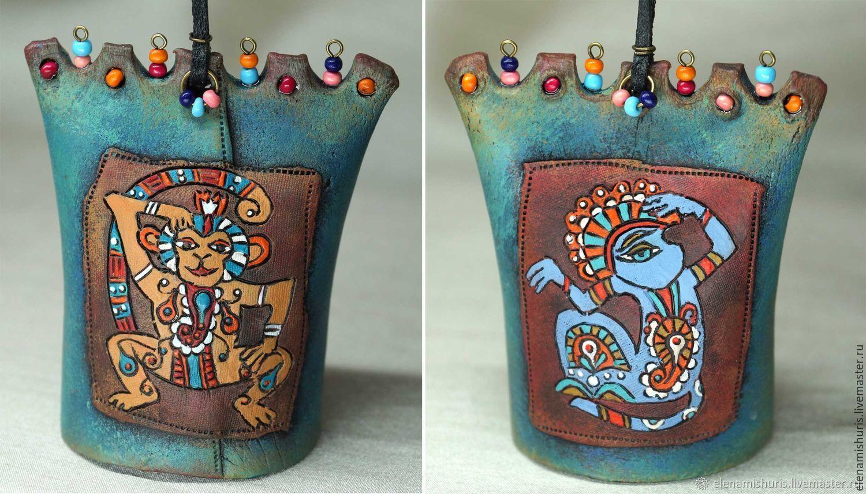 """Колокольчики ручной работы. Ярмарка Мастеров - ручная работа. Купить Колокольчики-ботало """"Этно"""". Handmade. Керамика, птица, керамический колокольчик"""