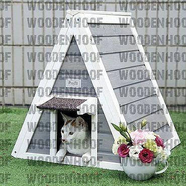 Товары для питомцев ручной работы. Ярмарка Мастеров - ручная работа Уличная будка для кошки. Handmade.
