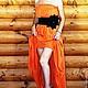 """Платья ручной работы. Ярмарка Мастеров - ручная работа. Купить Платье в пол бандо """"Конфетка 2"""". Handmade. Оранжевый"""