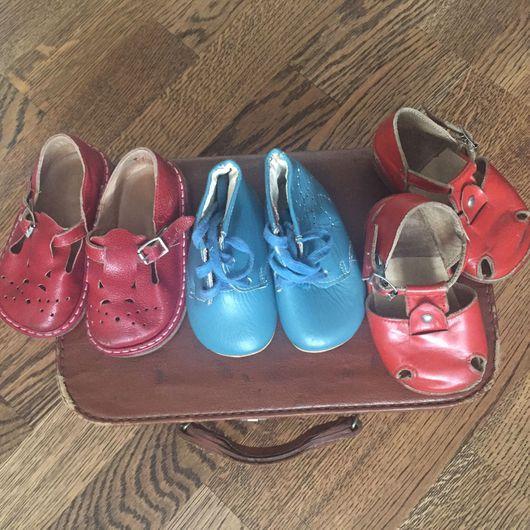 Винтажная обувь. Ярмарка Мастеров - ручная работа. Купить Винтажная детская обувь. Handmade. Обувь винтаж, кожаная обувь