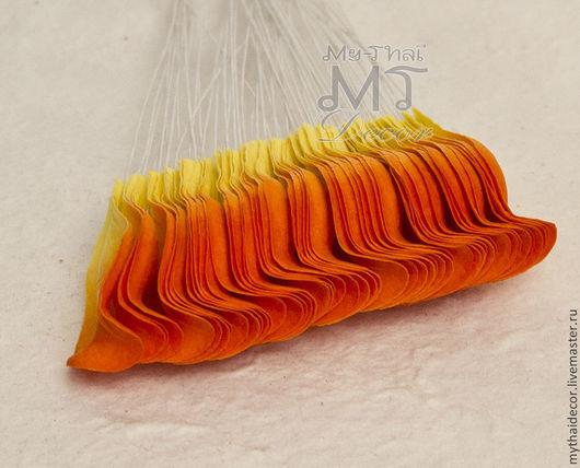 Лепестки желто-оранжевые загнутые My Thai Decor . Малбери флористика из Таиланда