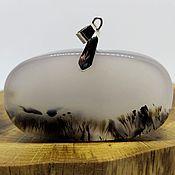 Украшения handmade. Livemaster - original item Mysterious day pendant on the Yellow River (chalcedony, rutile). Handmade.