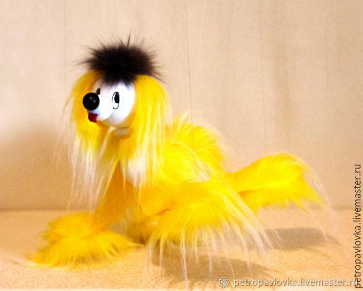 Собака-марионетка на нитях Солнышко, Мягкие игрушки, Черемшанка,  Фото №1