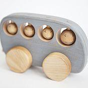 Куклы и игрушки ручной работы. Ярмарка Мастеров - ручная работа Автобус рустик голубой - деревянная игрушка. Handmade.