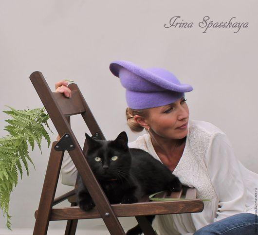 """Шляпы ручной работы. Ярмарка Мастеров - ручная работа. Купить Шляпка  """"Путешествие к Сатурну"""". Handmade. Сиреневый, купить шляпку, фелтинг"""
