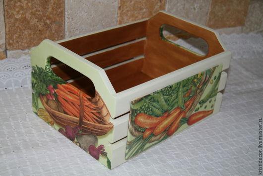 Корзины, коробы ручной работы. Ярмарка Мастеров - ручная работа. Купить Средняя корзинка для овощей - 2. Handmade. Короб, лук
