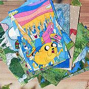 Открытки handmade. Livemaster - original item A set of greeting cards for postcrossing 10 pieces anime, cartoons. Handmade.