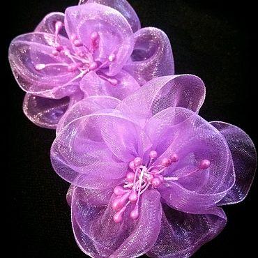 Украшения ручной работы. Ярмарка Мастеров - ручная работа Цветочки из органзы. Handmade.