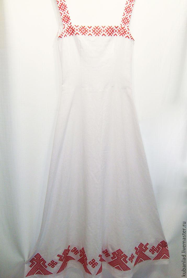 bcad8b6169f Одежда ручной работы. Ярмарка Мастеров - ручная работа. Купить Русский  вышитый льняной сарафан.