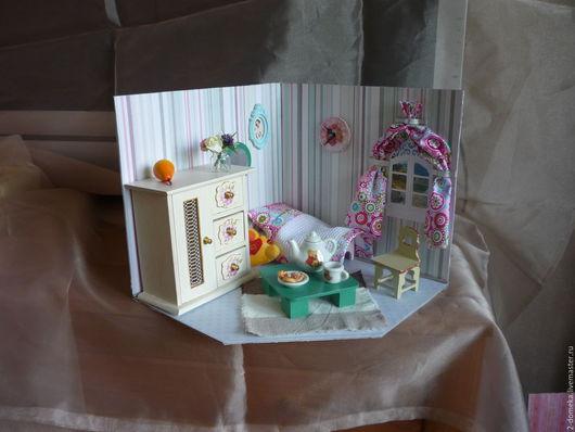 """Кукольный дом ручной работы. Ярмарка Мастеров - ручная работа. Купить Румбокс """" Розовая детская"""". Handmade. Комбинированный, румбокс"""