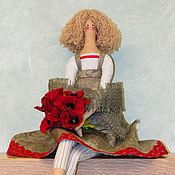 Куклы и игрушки ручной работы. Ярмарка Мастеров - ручная работа Кукла Тильда Маков цвет. Handmade.