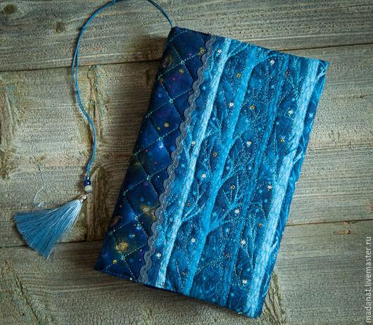 """Обложки ручной работы. Ярмарка Мастеров - ручная работа. Купить """"Заколдованный лес""""  Обложка для книги. Handmade. Синий, обложка на ежедневник"""