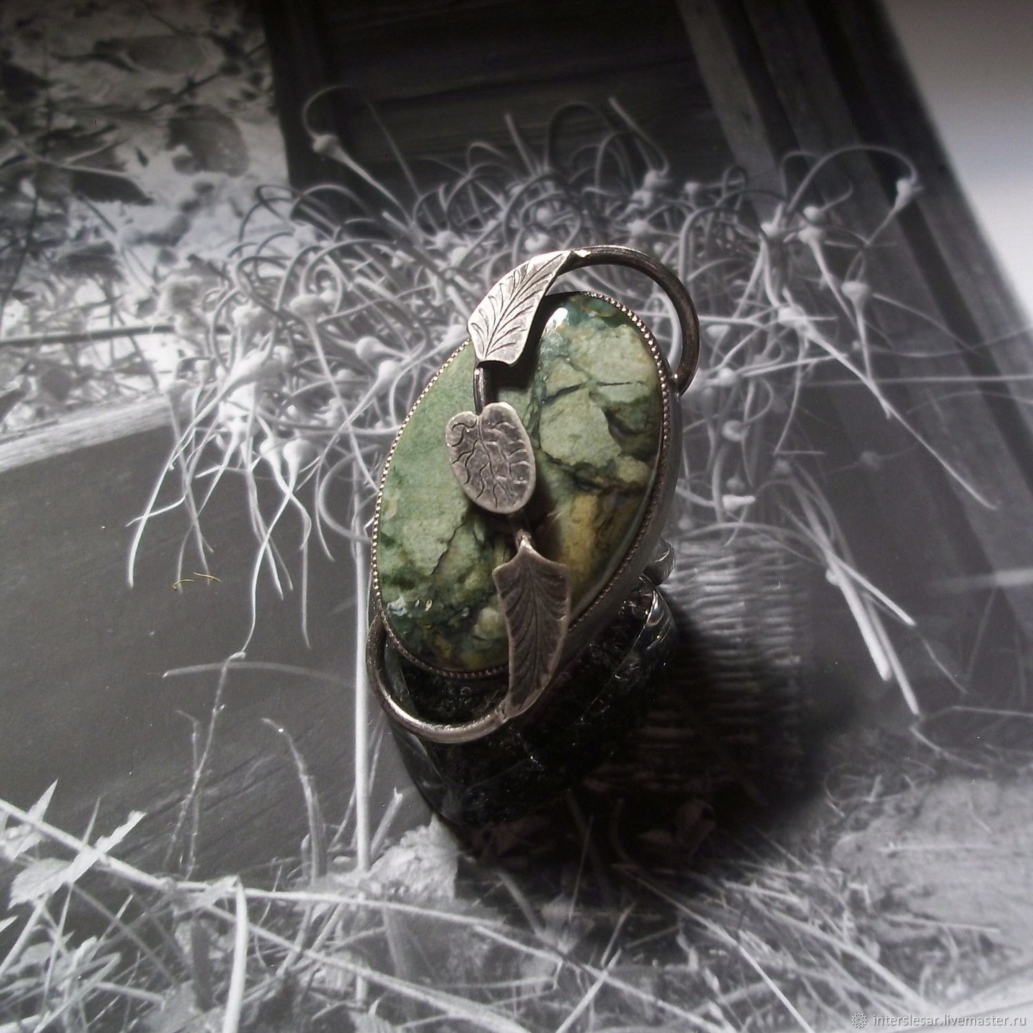 Jasper ring 'Old pond', Rings, Moscow,  Фото №1