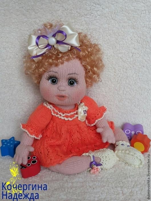 Человечки ручной работы. Ярмарка Мастеров - ручная работа. Купить Малышка Ева. Handmade. Рыжий, кукла в подарок, девочка, хлопок