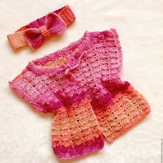 """Одежда для девочек, ручной работы. Ярмарка Мастеров - ручная работа. Купить Жилет для девочки """"Ягодный зефир"""". Handmade. Комбинированный"""