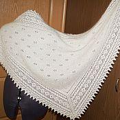 Аксессуары handmade. Livemaster - original item White downy shawl. Big scarf made of down.. Handmade.