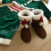 Работы для детей, ручной работы. Ярмарка Мастеров - ручная работа Новогодние Эльфы для мальчика и девочки  карнавальный костюм. Handmade.
