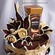 """Букеты ручной работы. Ярмарка Мастеров - ручная работа. Купить Композиция из конфет """"Кофе с шоколадом"""". Handmade. Коричневый, кофе"""