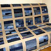 Для дома и интерьера ручной работы. Ярмарка Мастеров - ручная работа Джинсовое покрывало Клетка Беж. Handmade.