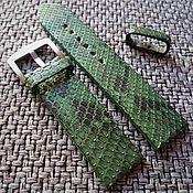 Аксессуары handmade. Livemaster - original item Green snake leather strap. Handmade.
