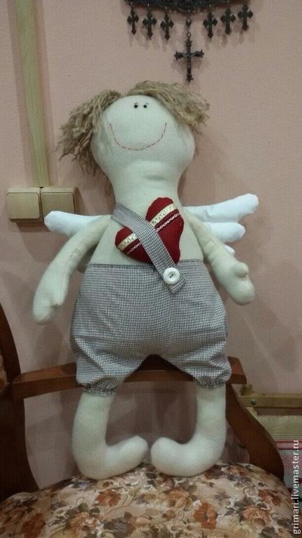 Коллекционные куклы ручной работы. Ярмарка Мастеров - ручная работа. Купить Ангел влюбленный. Handmade. Ангел, игрушка ручной работы