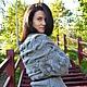 Вязаный серый красивый жакет с косами `Nuvola` от Sviteroff