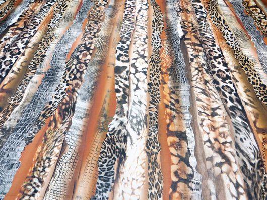 Шитье ручной работы. Ярмарка Мастеров - ручная работа. Купить Креп-шифон Salvatore Ferragamo, ткань Италия. Handmade. Разноцветный