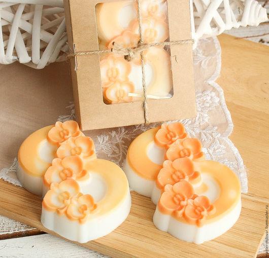 Мыло ручной работы. Ярмарка Мастеров - ручная работа. Купить оливковое подарочное мыло 8 МАРТА (орхидеи 003). Handmade.